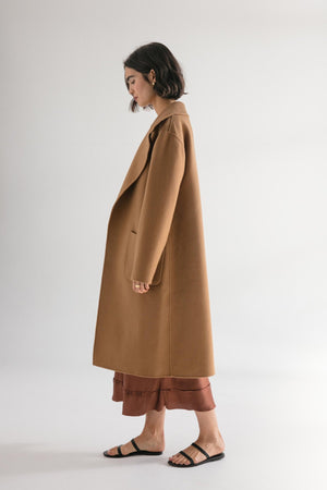 THE MATILDA COAT - CAMEL WOOL - FRIENDS WITH FRANK