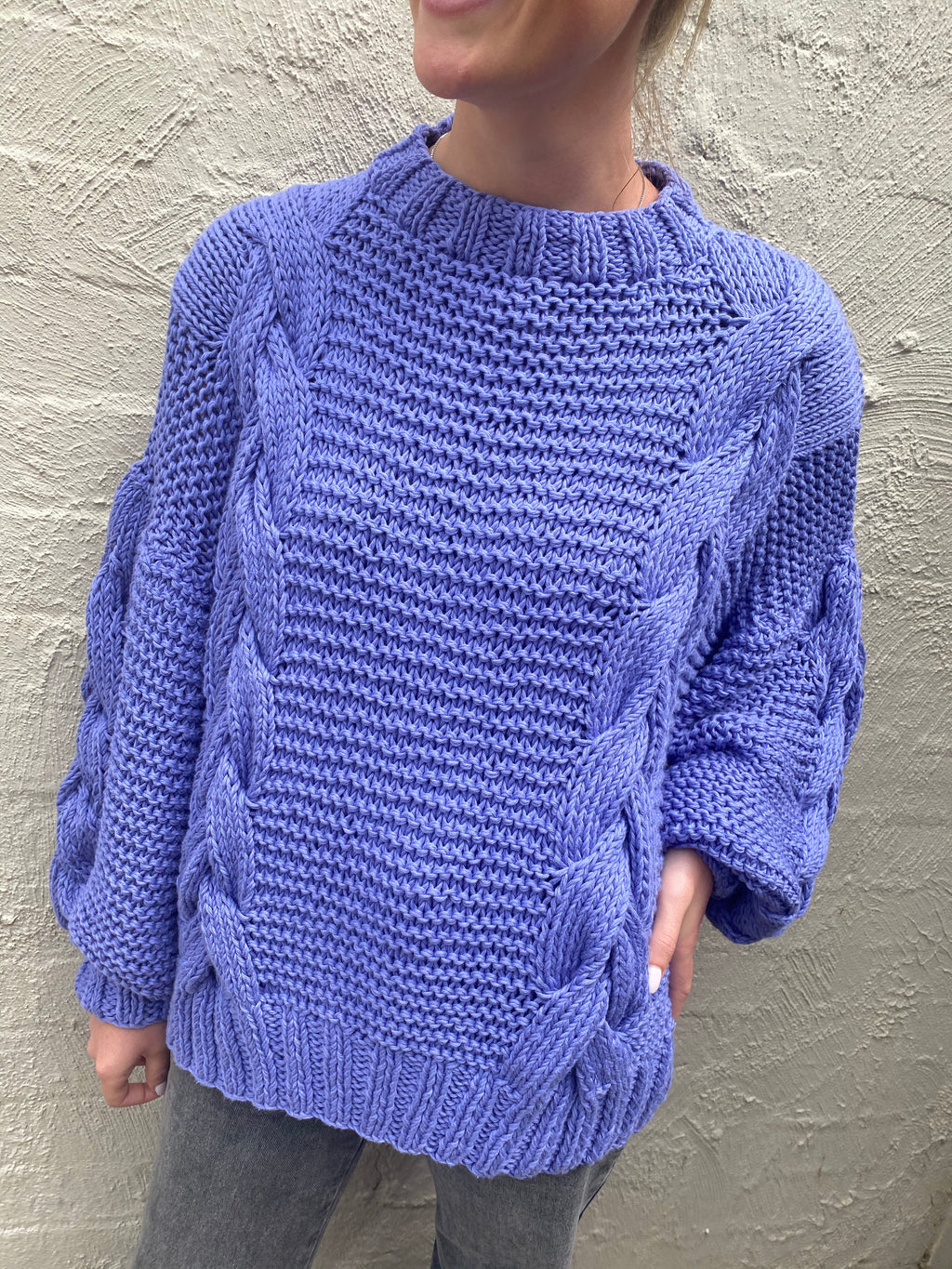 DELFI KNIT - LILAC - FIRST BORN