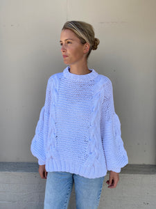 DELFI KNIT - WHITE  - FIRST BORN