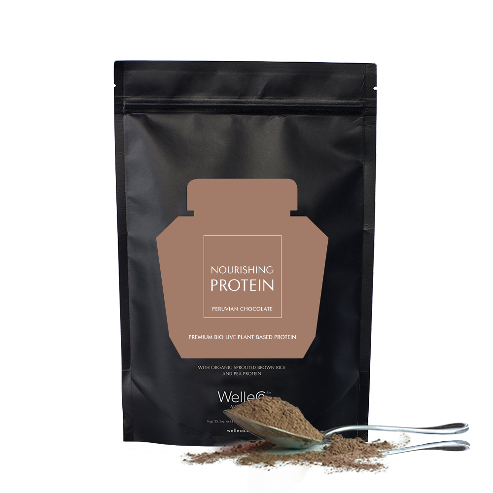 NOURISHING PLANT PROTEIN - CHOCOLATE 300G REFILL - WELLECO