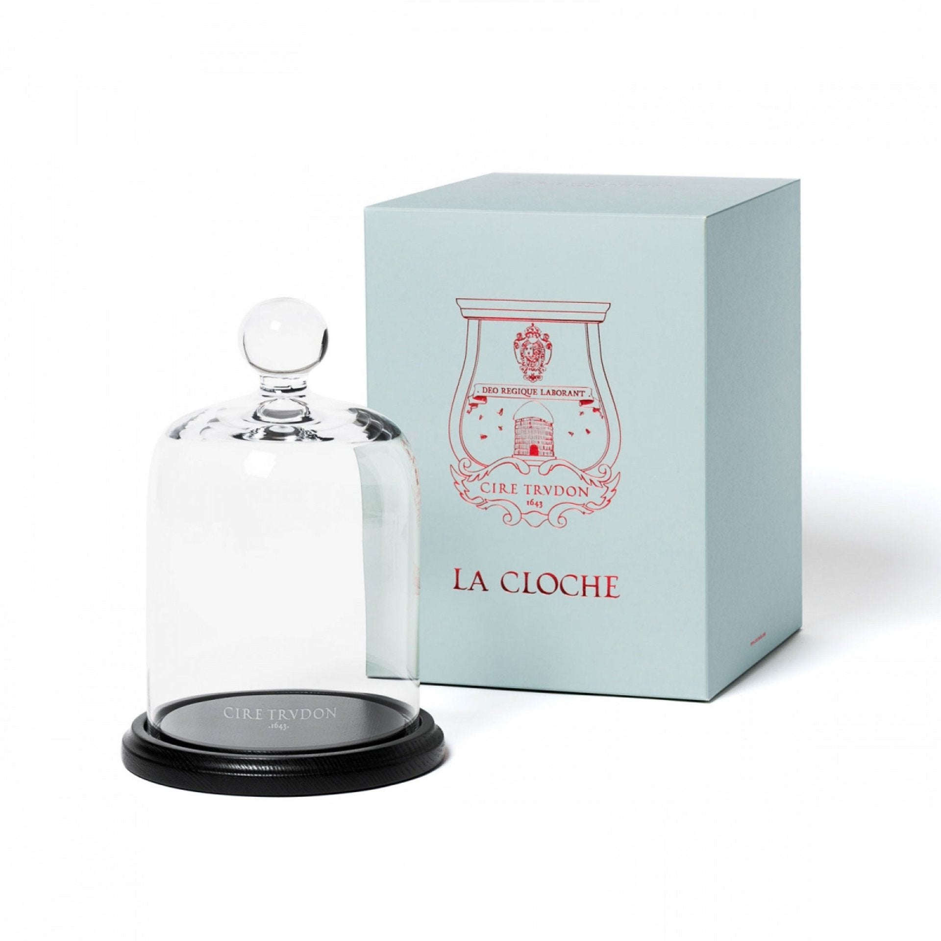 LA CLOCHE GLASS BELL JAR WITH BOARD - CIRE TRUDON
