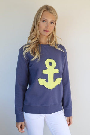 FRAYED ANCHOR WINDY - OLD NAVY / YELLOW - EST 1971