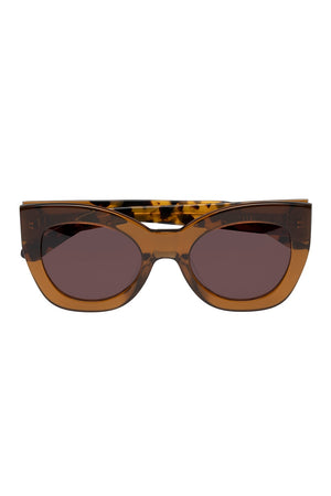 NORTHERN LIGHTS SUNGLASSES - TAN CRAZY TORT - KAREN WALKER
