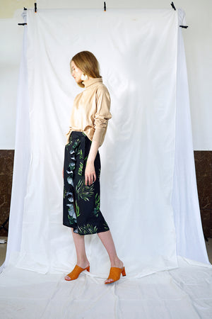 FOLIAGE WRAP SKIRT