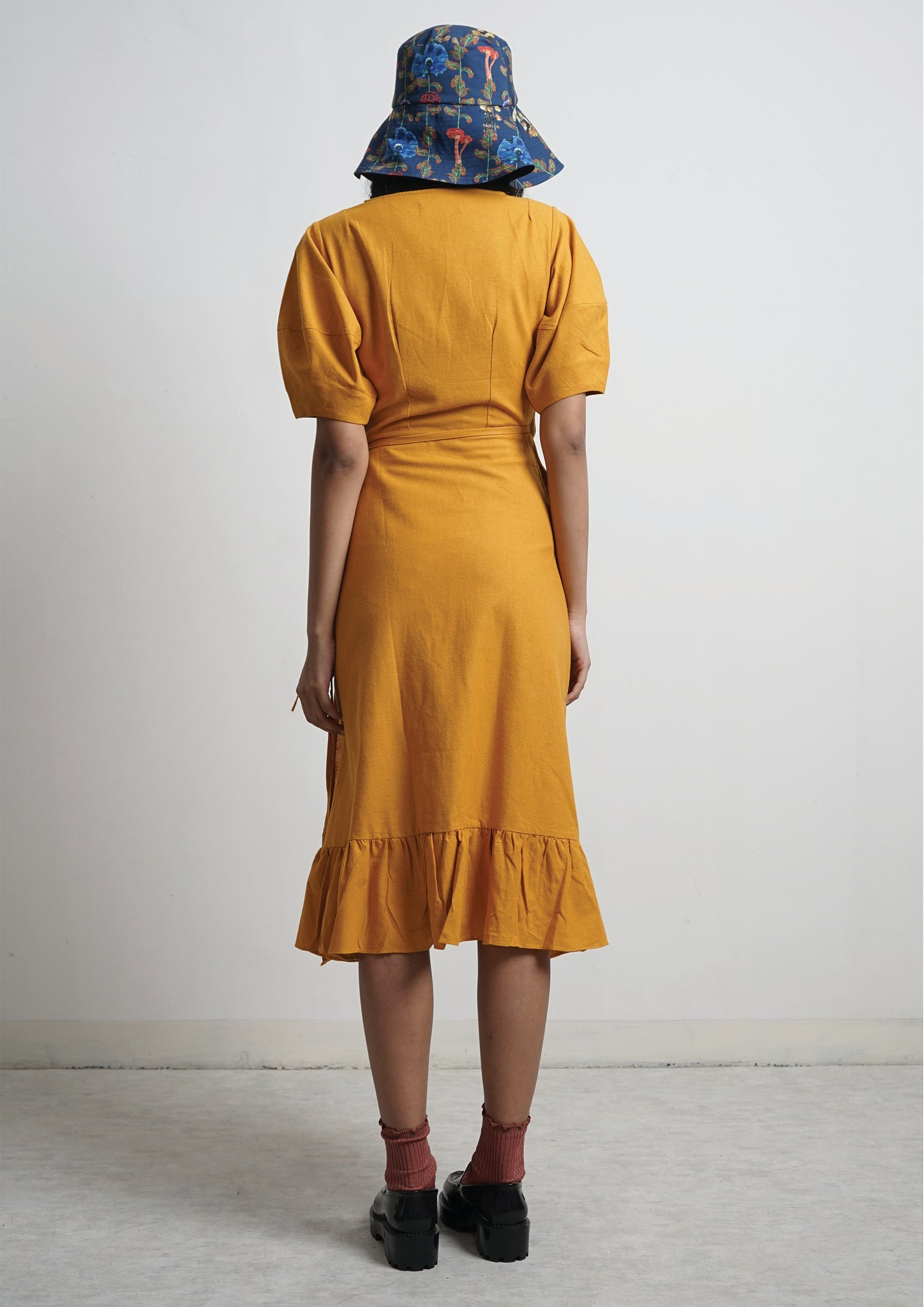 AMANITA WRAP DRESS - Turmeric
