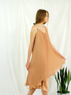 BEIGE PHLOX SLIP DRESS