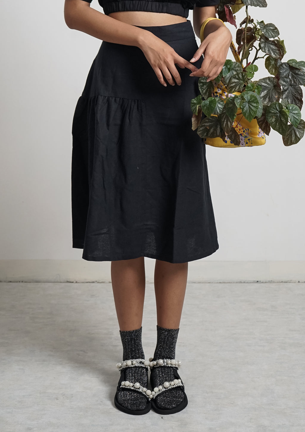 CALIN SKIRT - Licorice