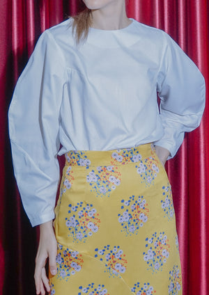 HALF MOON BLOUSE (WHITE)
