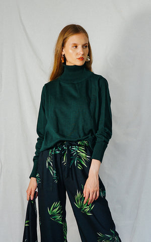 HEATHER SWEATER (DARK GREEN)