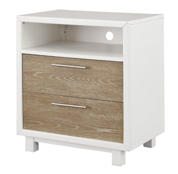 GARDOMI Contemporary Two Drawer Nightstand
