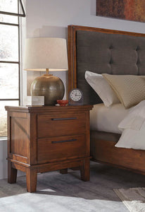 RALENE Contemporary Two Drawer Nightstand