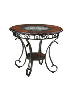 GLAMBREY Traditional Round Counter Height Table