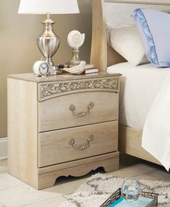 CATALINA Traditional Two Drawer Nightstand