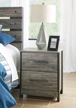 CAZENFELD Contemporary Two Drawer Nightstand