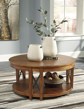 EMILANDER Casual Round Coffee Table