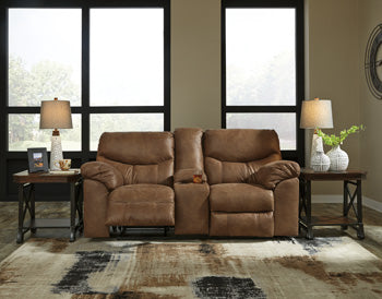 BOXBERG Double Reclining Loveseat w/Console