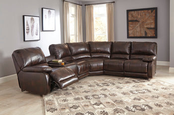 HALLETTSVILLE Contemporary Sectional (W/ Raf Recliner)