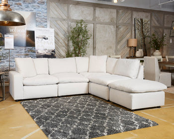 SAVESTO Contemporary Sectional (W/ Laf Corner Chair)