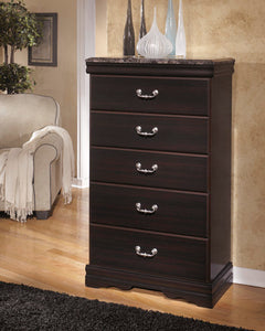 ESMARELDA Traditional 5 Drawer Chest
