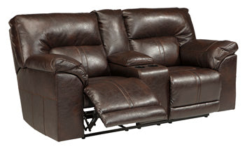 BARRETTSVILLE Double Reclining Loveseat w/Console