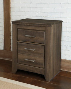 JUARARO Casual Two Drawer Nightstand