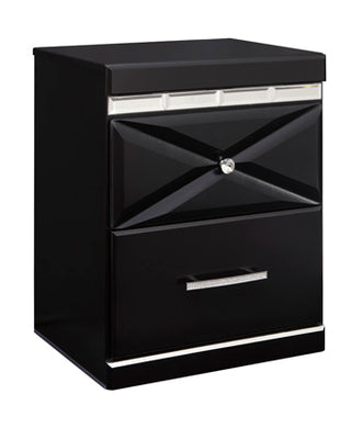 FANCEE Contemporary Two Drawer Nightstand
