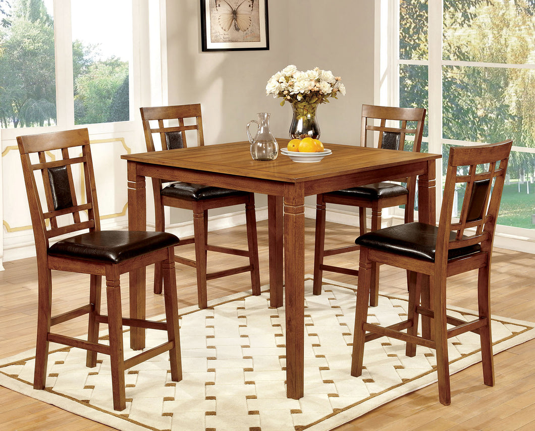 FREEMAN II Transitional Counter Height Table (5PC Set)