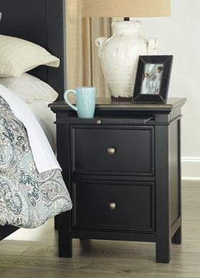 FROSHBURG Casual Two Drawer Nightstand