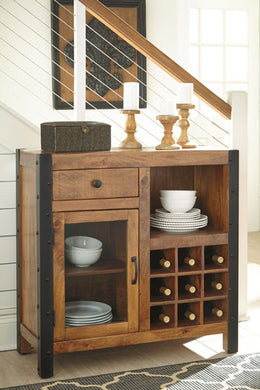 GLOSCO Casual Wine Cabinet