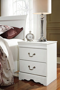 ANARASIA Traditional Two Drawer Nightstand