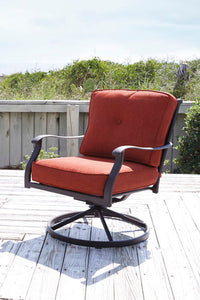BURNELLA Traditional Swivel Outdoor Chair x2