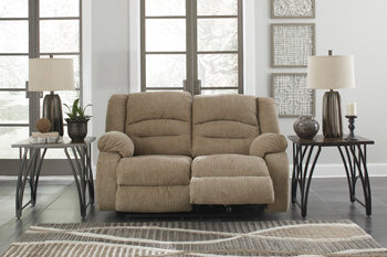LABARRE Rec Loveseat/Adj Headrest
