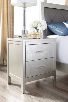 OLIVET Contemporary Two Drawer Nightstand