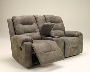 ROTATION Dbl Rec Loveseat w/Console