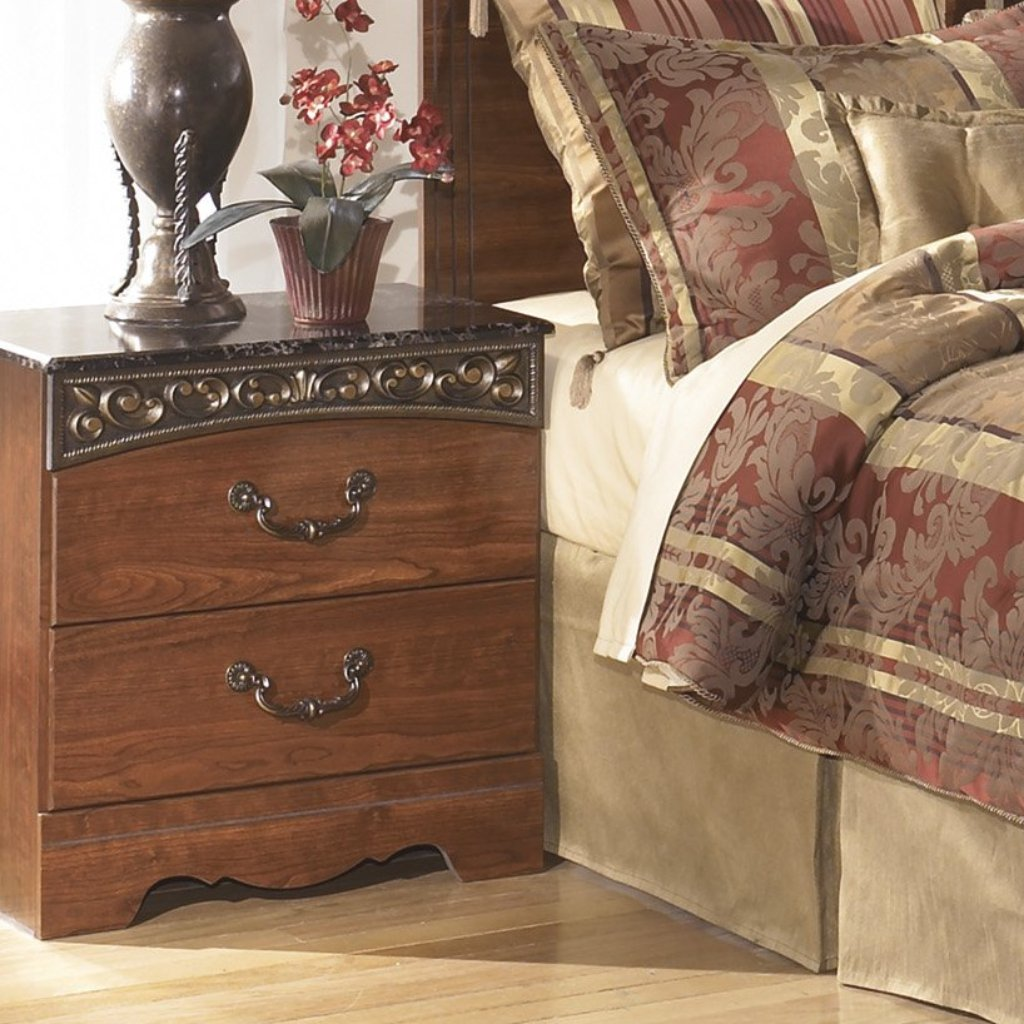 FAIRBROOKS ESTATE Traditional Two Drawer Nightstand