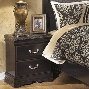 ESMARELDA Traditional Two Drawer Nightstand