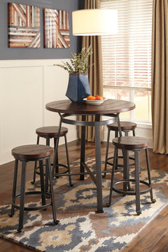 CHALLIMAN Casual Round Counter Height Table