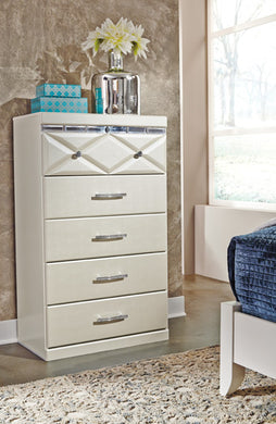 DREAMUR Contemporary 5 Drawer Chest