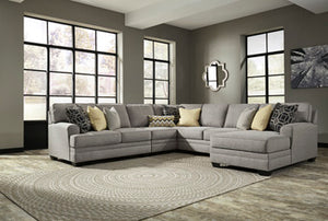CRESSON Contemporary Sectional (W/ Raf Chaise)