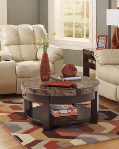 KRALEENE Contemporary Round Coffee Table