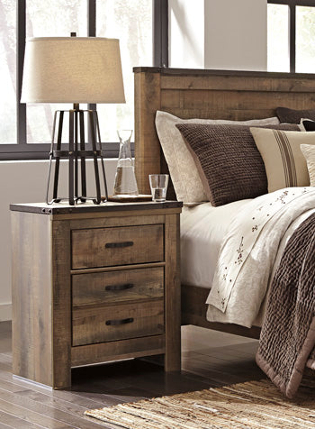 TRINELL Casual Two Drawer Nightstand