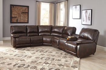 HALLETTSVILLE Contemporary Sectional (W/ Laf Recliner)