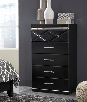 FANCEE Contemporary 5 Drawer Chest
