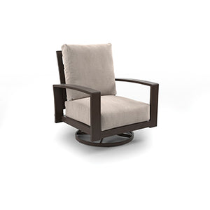 CORDOVA REEF Contemporary Swivel Outdoor Chair x2