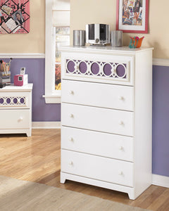 ZAYLEY Contemporary 5 Drawer Chest