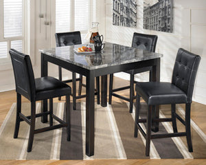 MAYSVILLE Contemporary Counter Height Table (5PC Set)