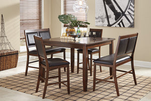 MEREDY Casual Counter Height Table (5PC Set)