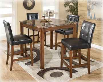 THEO Contemporary Counter Height Table (5PC Set)