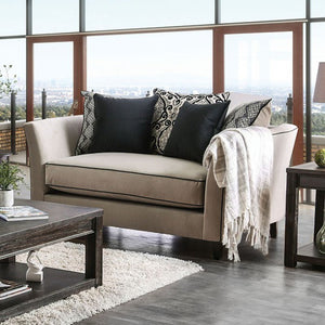 CHANTAL Transitional Love Seat(Light Gray)