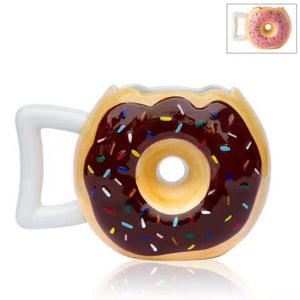 Donuts Shaped Ceramic Coffee Drinking Mug - 400ml - Special Cup -  Beautiful Cup